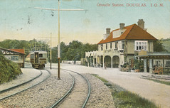 Groudle (cymro76) Tags: station postcard tram scanned isleofman manxelectricrailway groudle bowcollector