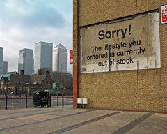 Banksy 'Lifestyle' (grahamzzzz) Tags: streetart stencils london art canon graffiti stencil artist banksy spraypaint aerosol spraycan 2011