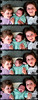 a gaggle of goofy girls (pukunui81) Tags: girls silly texture goofy kids canon three grunge goofballs makingfaces tongues d3 d2 d1 filmstrip onthefloor pokingtongues 550d t2i canoneos550d scavengerhuntergatherer shg47