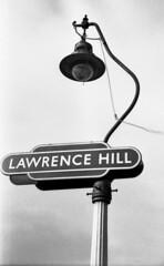 Are wrinklies right? (Fray Bentos) Tags: lighting lamp lamppost gaslamp lantern gaslight lawrencehillstation bristolrailways totemstationsign stationfittingsandequipment