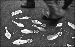 Dancing in the Streets (jbhthescots) Tags: seattle bw usa film wa kodaktmax400 orangefilter leicamp 50mmsummicron