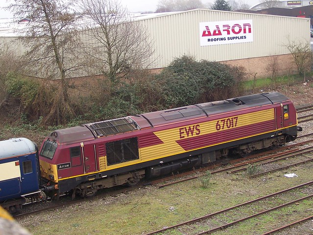 DBS 67017 AT GLOUCESTER YARD WITH TOTE SPORT 140312