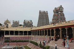 Madurai, Sri Meenakshi Temple, western and northern gopurams