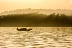 Untitled ( ) Tags: lake silhouette boat ray lifestyle hills rangamati kaptai
