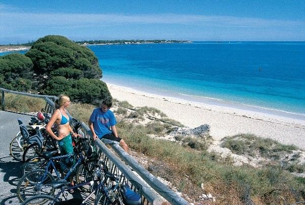 004882-786 cycling on Rottnest Island