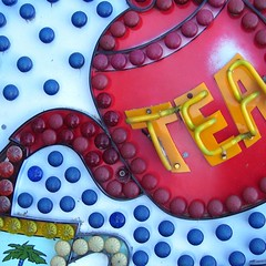 teatime (friendlydrag0n) Tags: light holiday detail tree sign square seaside neon graphic time tea drink tube palm pot strip signage teapot teatime sights refreshment bour