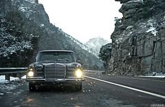 W108 in the Snow (again) (DryHeatPanzer) Tags: arizona mercedes benz tucson az 1966 mtlemmon mbz w108 250se