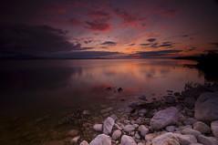Reflection in Pink_DSC3884 (antelope reflection) Tags: statepark sunset lake reflection beach water utah antelopeisland greatsaltlake nikond90