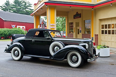 '38 Chrysler Rumble Seat Convertible (John H Bowman) Tags: cars june michigan chrysler oldcars rumbleseat 2011 gilmorecarmuseum barrycounty hickorycorners cruiseins canon17404l june2011 1938chrysler 1930scars gilmorecruisein sidemounttires