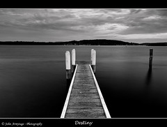 Destiny (John_Armytage) Tags: longexposure sunset bw clouds reflections blackwhite australia wharf nsw stillwater woywoy centralcoastnsw johnarmytage wwwjohnarmytagephotographycom