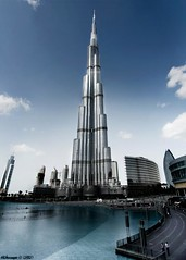The Burj - The final Edit (Dhowayan (Abu Yara)) Tags: water dubai bluesky khalifa burj