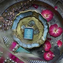 KEEP CALM & CARRY ON - TURQUISE - RETRO CHARM (Alicja Radej Arte Ego) Tags: glass handmade oneofakind jewelry jewelery retrocharm