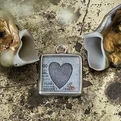 BACKSIDE OF 'SILHUATTE CUPID' - RETRO CHARM (Alicja Radej Arte Ego) Tags: glass handmade oneofakind jewelry jewelery retrocharm