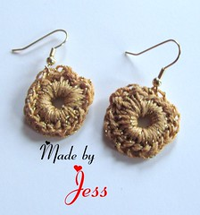 "Crochet Earrings • <a style=""font-size:0.8em;"" href=""http://www.flickr.com/photos/66263733@N06/6913867353/"" target=""_blank"">View on Flickr</a>"