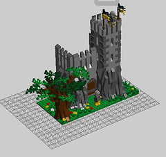 LDD Castle concept (Jeroen_K) Tags: tree tower castle digital rocks lego designer medieval moc kingdoms ldd