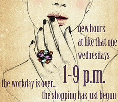 New Wednesday Hours at Like That One (Like That One) Tags: new vintage shopping wednesday one singapore furniture like hours longer wednesdays likethatone