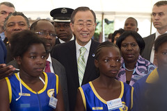 IOC, UN heads visit Olympic Youth Development Centre in Zambia (International Olympic Committee) Tags: africa un international zambia ioc rogge bankimoon february2012 sportforhope olympicyouthdevelopmentcentre