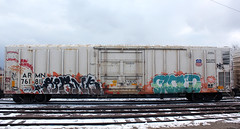 Spank Cloud (The Braindead) Tags: cloud color art beautiful minnesota train bench dead photography graffiti high amazing cool nice interesting flickr good quality painted awesome tracks free minneapolis twin rail brain explore most beyond neat spank the braindead cites flickrs benched thebraindead