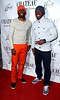 Leroy Dixon and Rodney Martin walking the red carpet at Chateau Nightclub and Gardens at Paris Hotel and Casino Las Vegas, Nevada