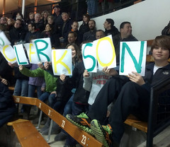 Showing their Golden Knight Pride, while clearly a minority in the crowd, these kids rock! They are the children of Todd Deppe '88, Bill Valus '88 & Steve Pitaniello '88 - all members of the fraternity TDK (Clarkson University) Tags: clarkson clarksonhockey clarksongreeklife clarksontdk