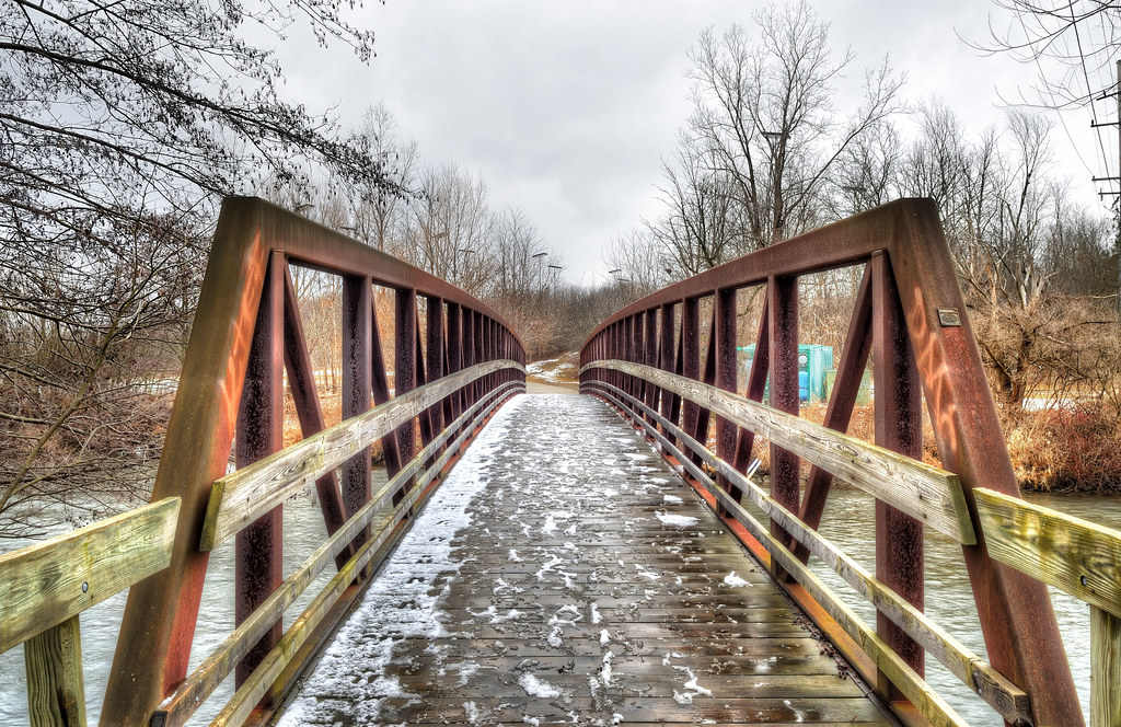 Rusty bridge on the Huron River
