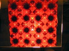 16 octagons (ЗЗ) Tags: art paper geometry twist tessellation tessellations tesselation paperfolding papiroflexia fujimoto chrispalmer octagons dodecagon flowertower shadowfold