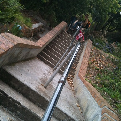 Saturday stairs... Gotta be done...