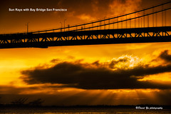 Sun Rays with Bay Bridge San Francisco