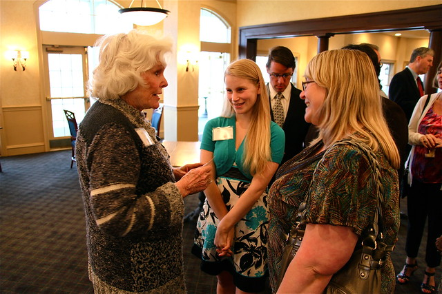 Doris Buffett meets with GCCEF scholarship recipients and their parents