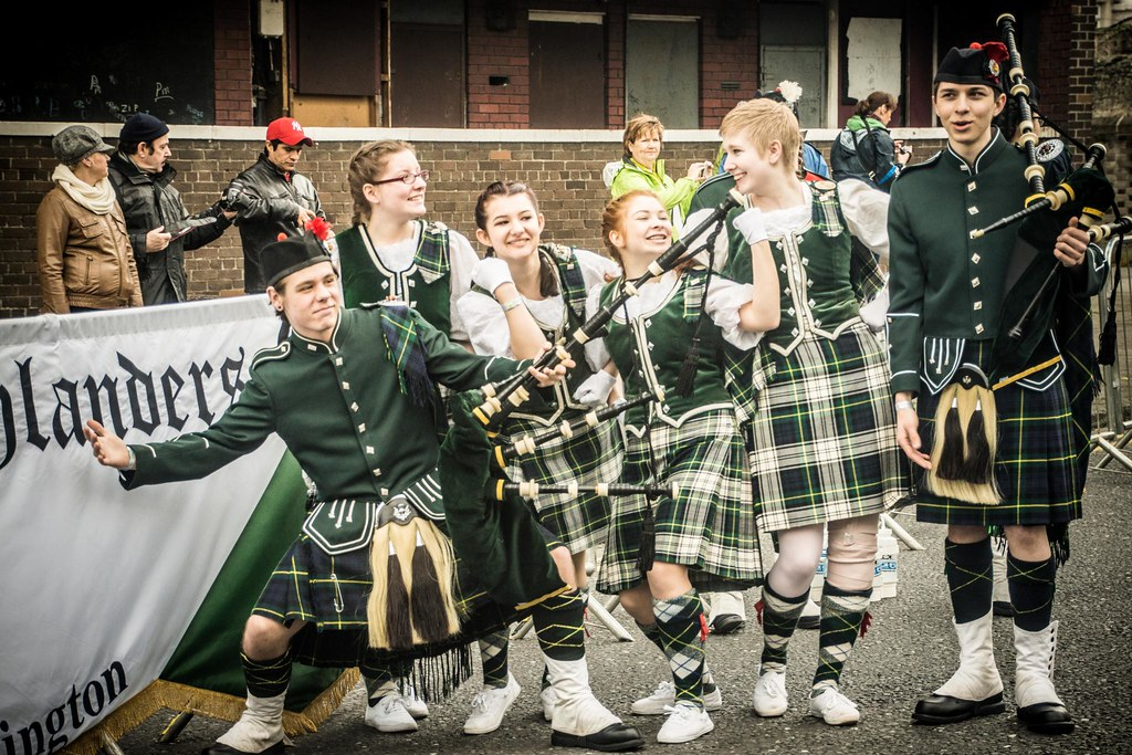 Meet Shorecrest High School Highlanders Backstage At The St. Patrick's Day Parade