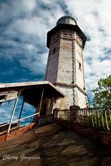Cape Bojeador Lighthouse (diamonddust13) Tags: travel lighthouse horizontal asia philippines bluesky landmark ilocos burgos luzon ilocosnorte capebojeador oldlighthouse