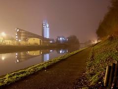 Bleu comme la nuit (bowb59) Tags: night tour universit silo nuit nocturne chemin fleuve valenciennes escaut halage