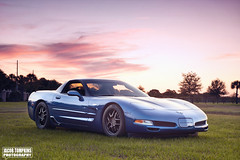 Brian's Corvette (Jacob Tompkins | Worked Photography) Tags: auto blue sunset tampa nikon florida cara fl corvette lowered dropped lutz lowe d90 autotive
