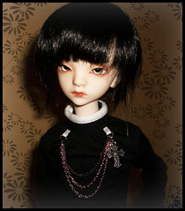 :: Sora :: (Bunraku Doll) Tags: boy skinny dc doll 14 ps bjd bella custom dollfie  blackhair sora  msd    pinkskin     kd   dollchateau
