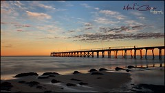 Catching The Light (Mark-Cooper-Photography) Tags: ocean blue orange sun sunlight seaweed beach water clouds sunrise canon bay pier sand long exposure jetty south australia sa largs efs1022mm 550d t2i eos550d markcooperphotography