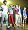 One Direction performing in concert at St James Theatre. Wellington, New Zealand