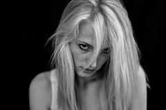 blond girl with strand (Winfried Veil) Tags: leica blackandwhite bw woman girl 50mm eyes dof veil bokeh rangefinder shy depthoffield blond sw augen frau summilux blick asph mdchen winfried 2012 m9 schrfentiefe schchtern tiefenschrfe unschrfe schwarzweis wispofhair strhne strandofhair messsucher haarstrhne leicam9 winfriedveil