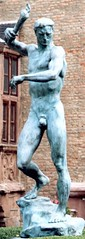 Prometheus (davisson123) Tags: sculpture man color male art history face statue bronze standing germany naked nude fire europe european body expression thirdreich escultura flame torch worldwarii german corps ww2 arno lookingdown fuego gesture titan flamme allemagne marche greekmythology hombre feu homme patina prometeo nue frontview bronce 1935 cuerpo prometheus desnudo caminando allemand descending antorcha torche descendant flambeau debout nazism ptina nationalsocialism arnobreker breker secondeguerremondiale titn walkingdown descendiendo promthe firebringer raisedarm nrvenich mirandohaciaabajo mythologiegrecque mitologagriega troisimereich regardantverslebas brazoalzado