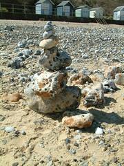 Goldsworthy tribute :-) (Moominpappa06) Tags: uk england beach norfolk pebbles huts cromer seasidewalks andygoldsworthytribute
