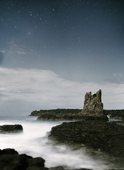 (Cameron Sandercock) Tags: ocean longexposure sky nature water night canon stars outdoors rocks australia kiama wollongong cathedralrocks 5dmarkii cameronsandercock