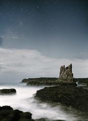 (Cameron Sandercock) Tags: ocean longexposure sky nature water night canon stars outdoors rocks australia kiama wollongong cathedralrocks 5dmarkii cameronsandercock