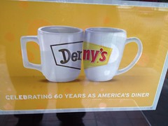 Denny's Coffee Cup Ad (earthdog) Tags: apple cup sign moblog word restaurant coffeecup cellphone diner advert dennys 4s iphone 2013 iphoneography iphone4s appleiphone4s uploaded:by=flickrmobile flickriosapp:filter=nofilter