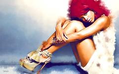 Rihanna (Bob Smerecki) Tags: auto portrait color art colors pen pencil ink photoshop painting movie star sketch artwork dynamic bright 21 drawing 5 strokes fine illustrations cage brush canvas virtual nicolas hollywood pastels painter singer oil editor watercolors gouache rendering gmx rihanna smartphoto photopainter smackman snapnpiks
