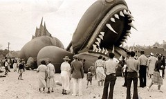 Onlookers view the beached Great Nantucket Sea Serpent. Reported sightings off the coast made national headlines, with scientists weighing in on the matter. Turns out it was a balloon designed by puppeteer Tony Sarg (of the Macy's Thanksgiving Parade) as (Histolines) Tags: thanksgiving sea history by out was coast with view great balloon it off tony retro parade made nantucket national headlines timeline beached macys sightings serpent publicity turns scientists stunt weighing 1937 onlookers matter designed sarg puppeteer vinatage reported of historyporn histolines 1024612 httpifttt1qes5ho