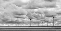 Windturbines, clouds and a small mill (koos.dewit) Tags: industry clouds landscape energy fuji windmills fujifilm goliath turbines windturbines 2016 eemshaven koosdewit fujinon1855mm fujixe2 koosdewitnl
