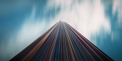 Ascension (E) (Panda1339) Tags: longexposure light sky paris architecture la colourful dfense moretti