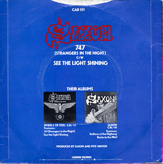 Saxon - See The Light Shining (Betapix) Tags: light see picture 45 cover single record shining saxon the