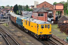 73952 33035 Kidderminster (British Rail 1980s and 1990s) Tags: yellow train ed diesel rail railway loco locomotive preserved 73 preservation svr livery severnvalleyrailway networkrail class73 electrodiesel dieselgala 73952 locohauled