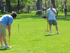 (sfrikken) Tags: park lake yoga dave place madison acrobat croquet monona torey yahara