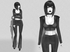 Look # 447 (M  M) Tags: white black fashion photography avatar event secondlife virtual pixels exclusive revoult